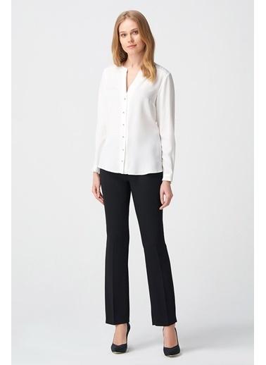 NaraMaxx Patlı Beyaz Bluz Beyaz